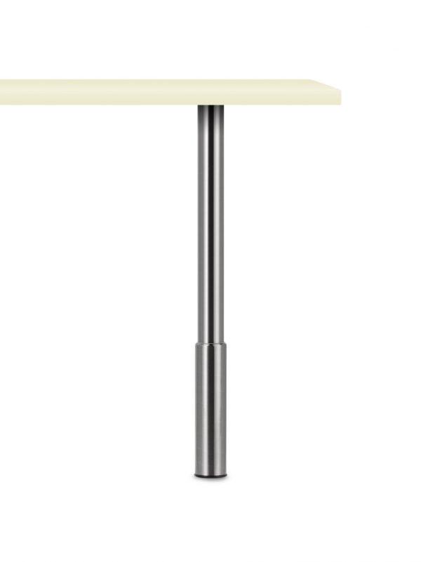 Trampolo 1 rond 600x801 - Trampolo 1 rond, tafelpoot, zwart mat, H 800 - 980 mm