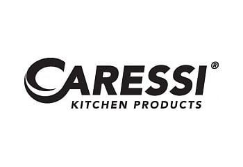 Logo Caressi kranen en spoelbakken