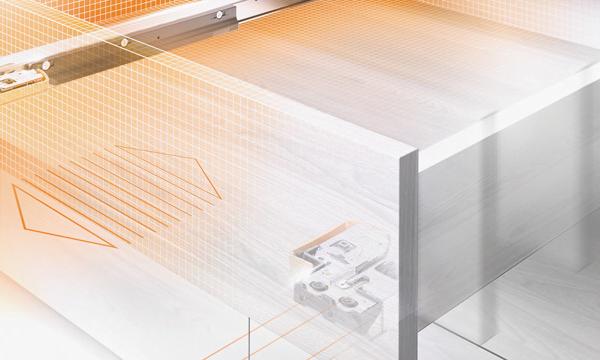 Blum MOVENTO ladegeleiders 520mm met BLUMOTION 60kg Belastbaar
