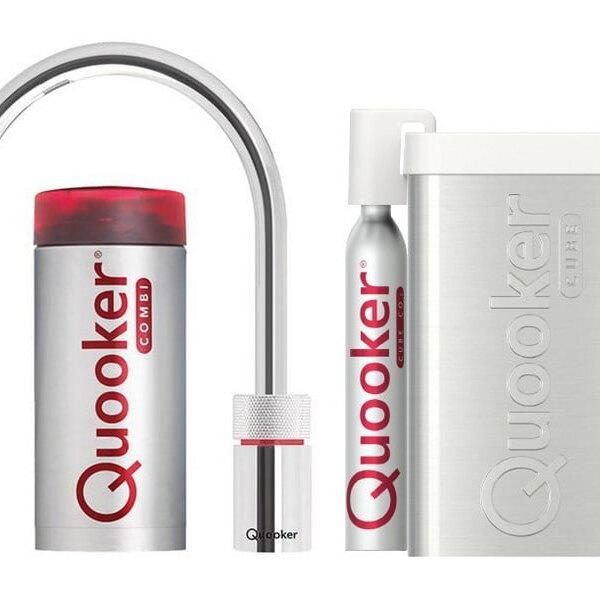 Quooker COMBI+ en CUBE Nordic Round  chroom