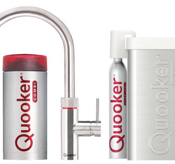 Quooker COMBI+ en CUBE Flex  RVS