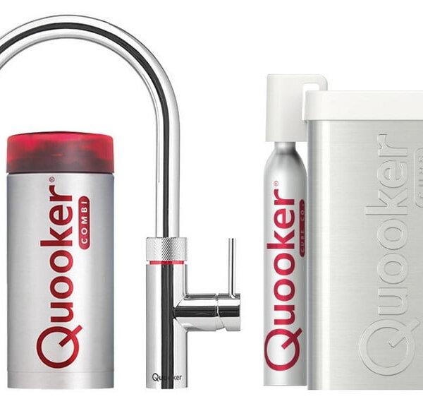 Quooker COMBI en CUBE Flex  chroom