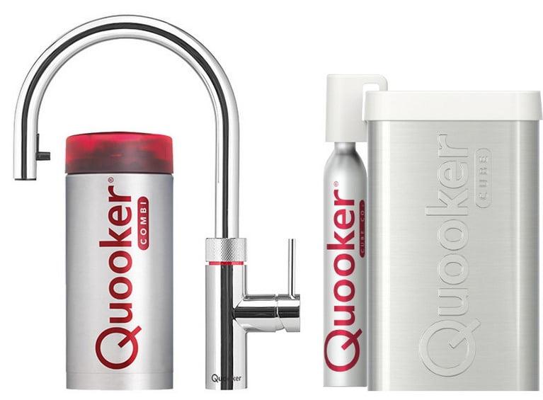 Quooker COMBI+ en CUBE Flex  chroom
