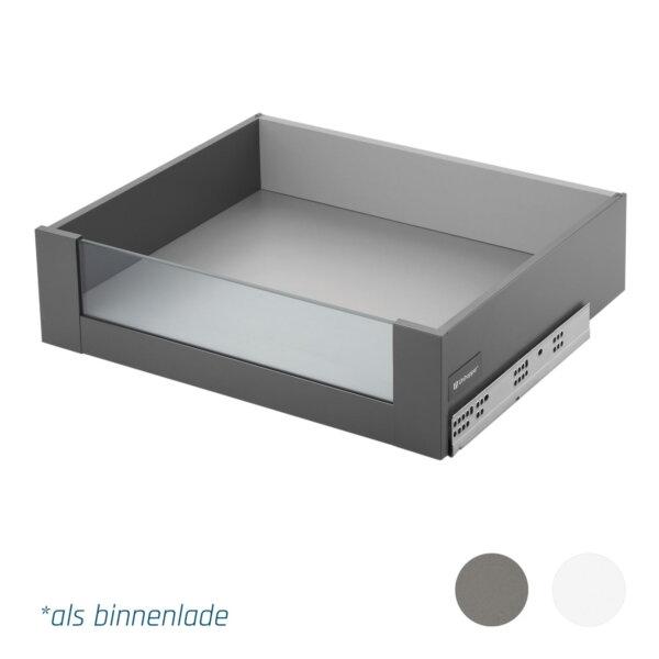 Slimbox lades op maat H120mm binnenlade glas